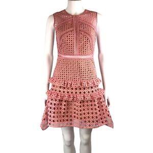 Self-Portrait lace pattern dress